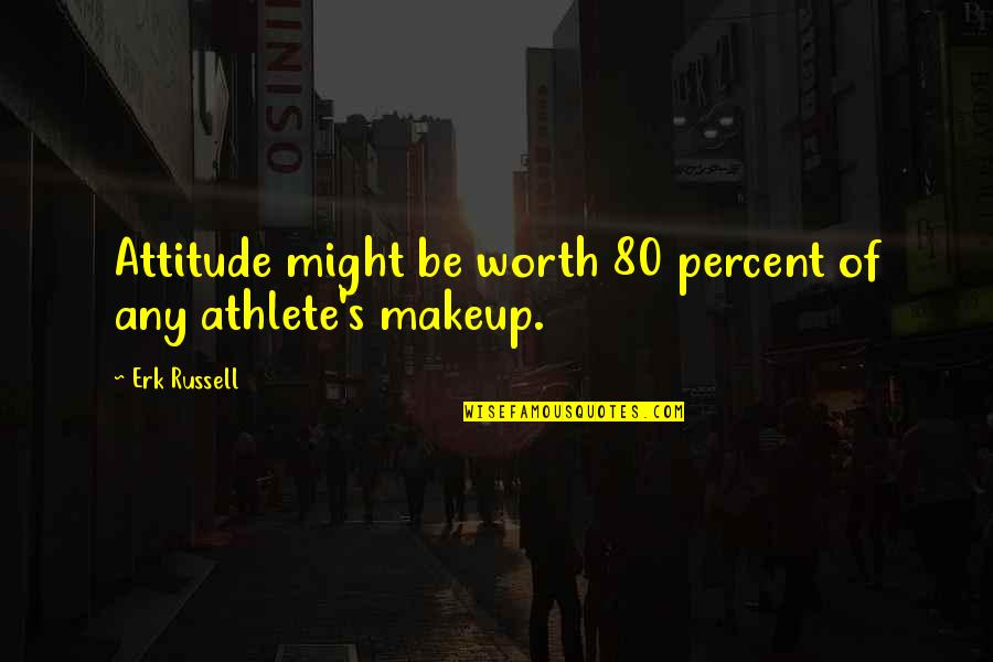 Makeup Quotes By Erk Russell: Attitude might be worth 80 percent of any