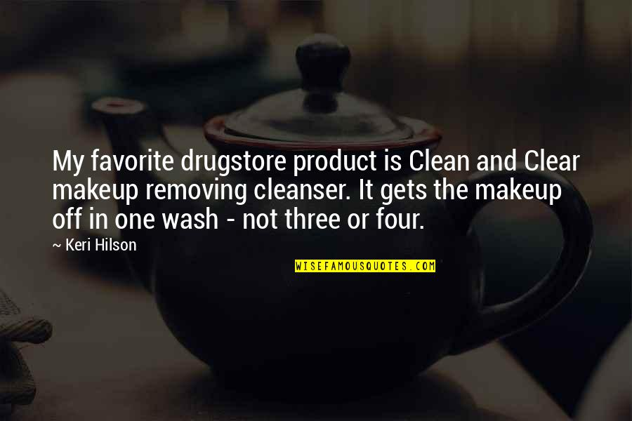 Makeup Quotes By Keri Hilson: My favorite drugstore product is Clean and Clear