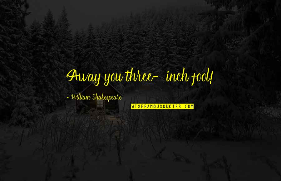 Making Good Choices Quotes By William Shakespeare: Away you three-inch fool!
