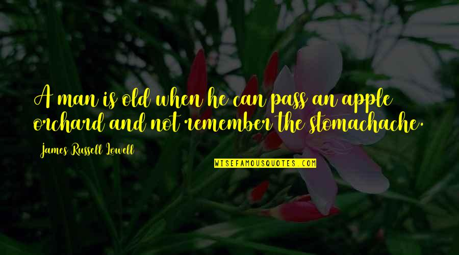 Making It Through Struggles Quotes By James Russell Lowell: A man is old when he can pass