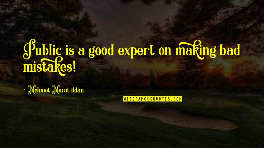 Making My Own Mistakes Quotes By Mehmet Murat Ildan: Public is a good expert on making bad