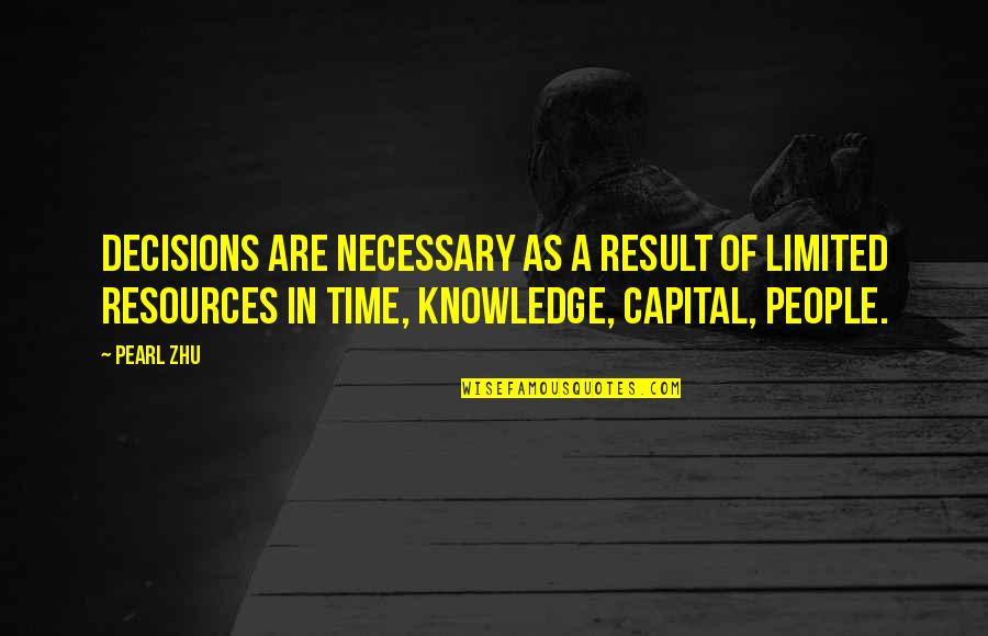 Making Time Quotes By Pearl Zhu: Decisions are necessary as a result of limited