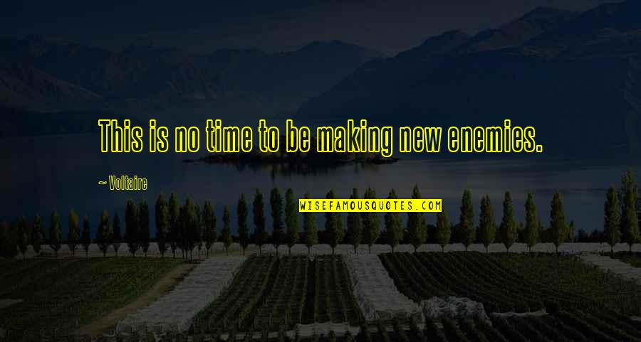Making Time Quotes By Voltaire: This is no time to be making new