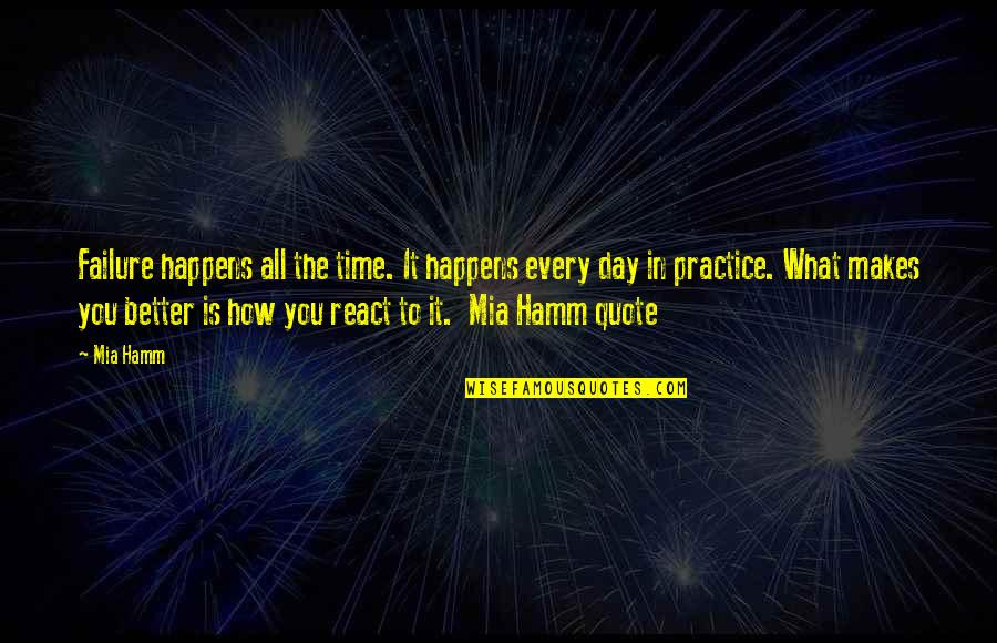 Mak'st Quotes By Mia Hamm: Failure happens all the time. It happens every
