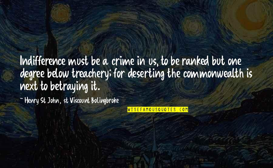 Makulit Na Tao Quotes By Henry St John, 1st Viscount Bolingbroke: Indifference must be a crime in us, to