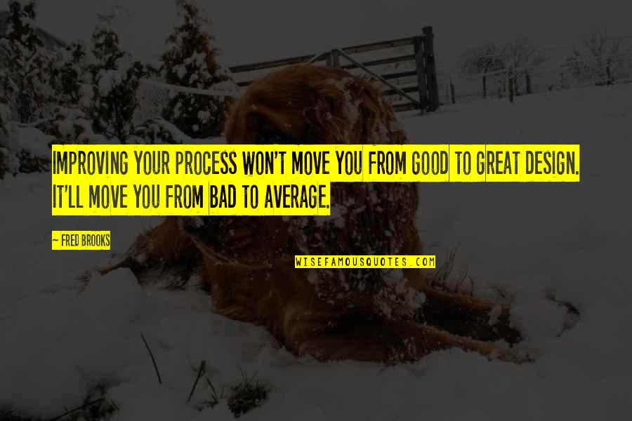 Malaysian Stock Quotes By Fred Brooks: Improving your process won't move you from good