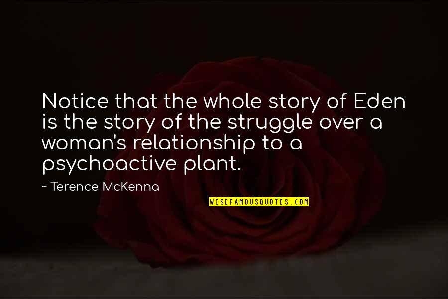 Malaysian Stock Quotes By Terence McKenna: Notice that the whole story of Eden is
