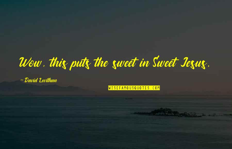 Malen Quotes By David Levithan: Wow, this puts the sweet in Sweet Jesus.