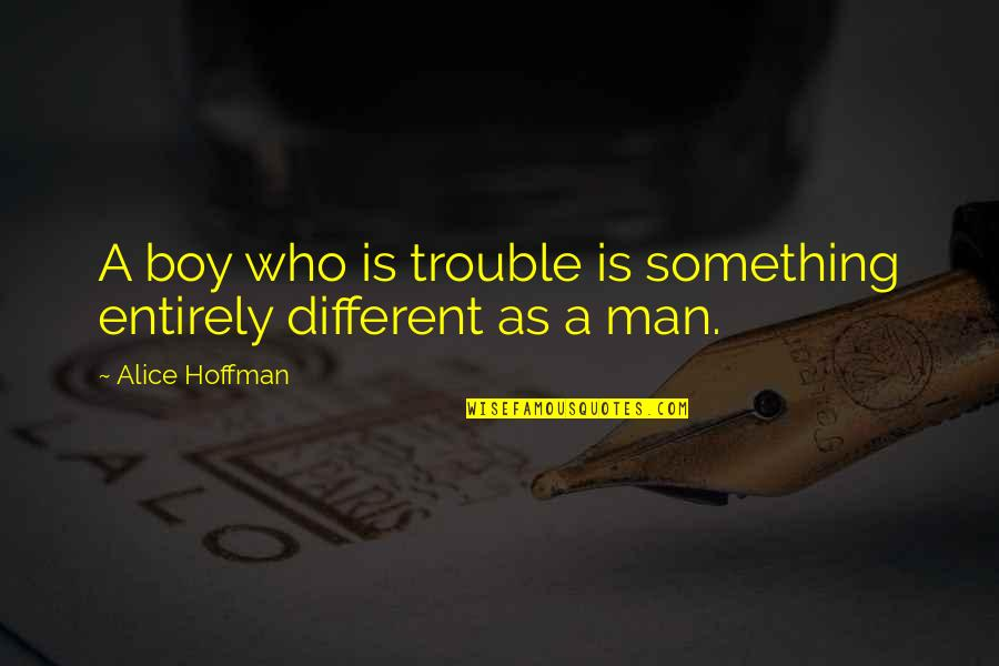 Man Boy Quotes By Alice Hoffman: A boy who is trouble is something entirely