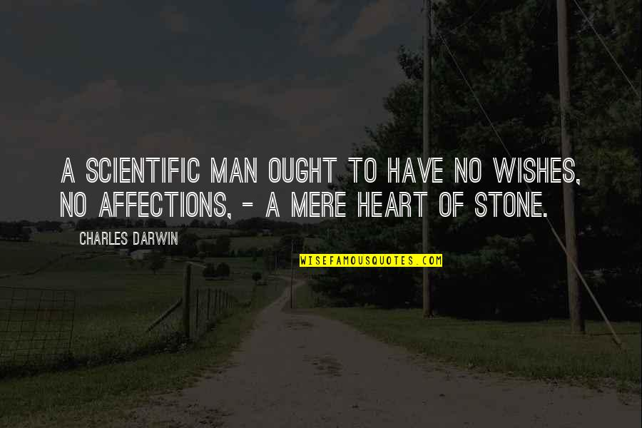 Man Of Quotes By Charles Darwin: A scientific man ought to have no wishes,