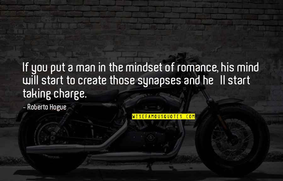 Man Of Quotes By Roberto Hogue: If you put a man in the mindset