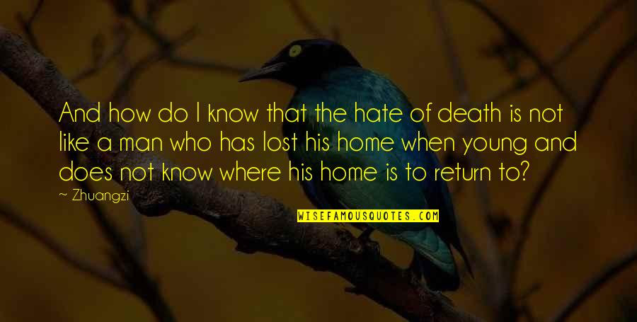 Man Who Quotes By Zhuangzi: And how do I know that the hate