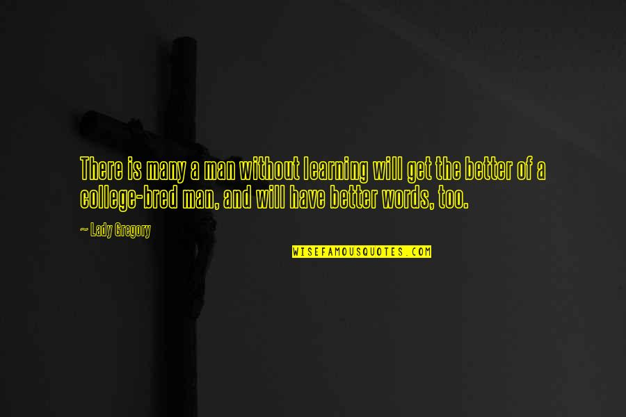 Man Without Words Quotes By Lady Gregory: There is many a man without learning will