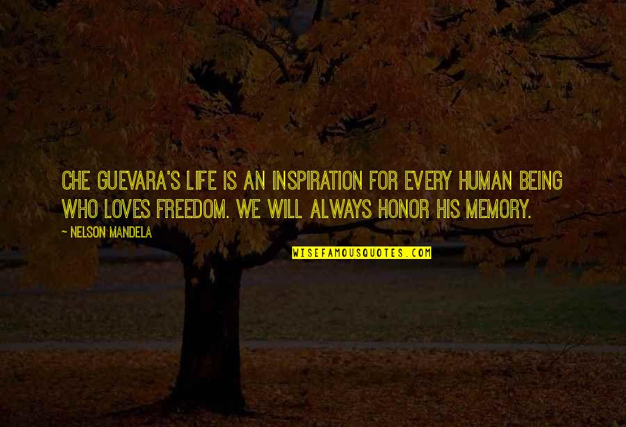 Mandela's Quotes By Nelson Mandela: Che Guevara's life is an inspiration for every