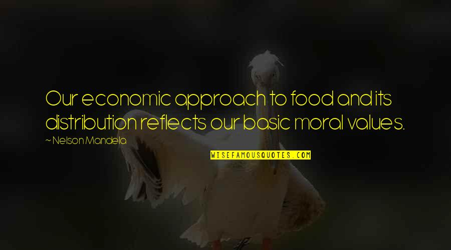 Mandela's Quotes By Nelson Mandela: Our economic approach to food and its distribution