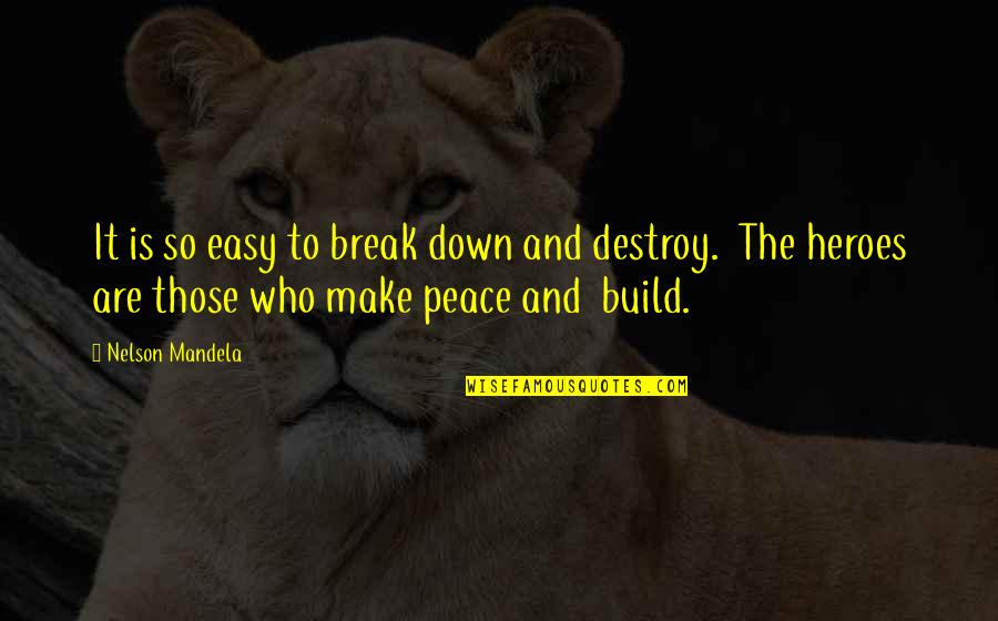 Mandela's Quotes By Nelson Mandela: It is so easy to break down and