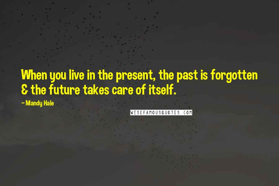 Mandy Hale quotes: When you live in the present, the past is forgotten & the future takes care of itself.