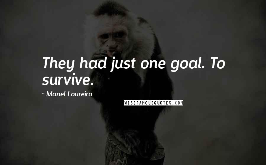 Manel Loureiro quotes: They had just one goal. To survive.