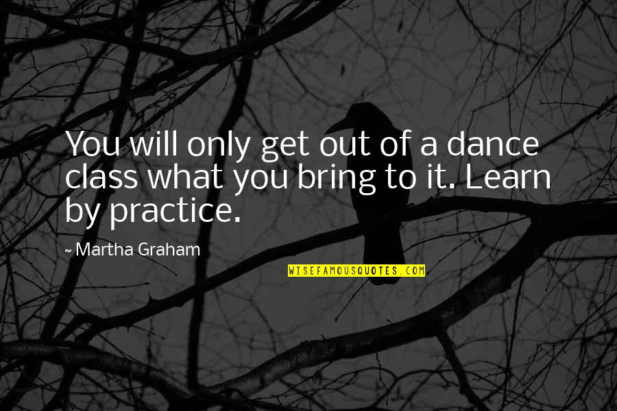 Mang Aagaw Quotes By Martha Graham: You will only get out of a dance