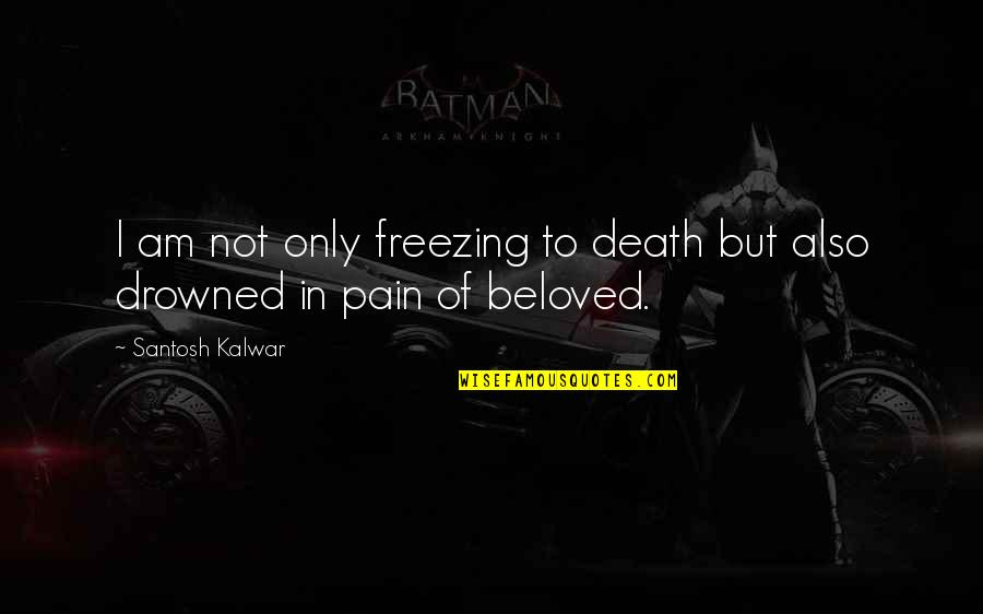 Manish Tiwari Quotes By Santosh Kalwar: I am not only freezing to death but