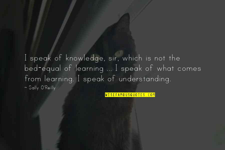 Mankoff Quotes By Sally O'Reilly: I speak of knowledge, sir, which is not