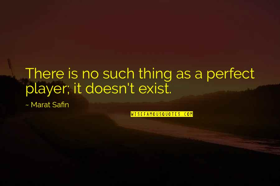 Marat Safin Quotes By Marat Safin: There is no such thing as a perfect