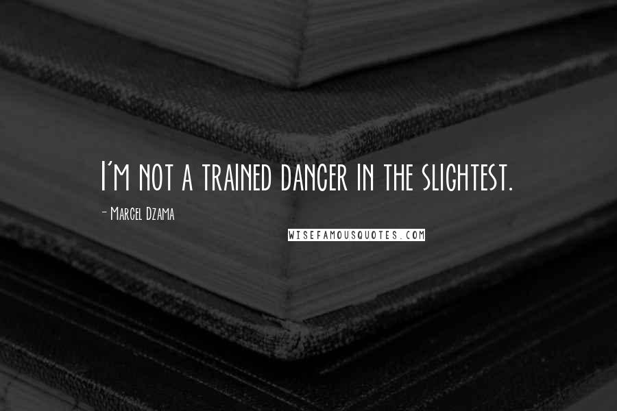 Marcel Dzama quotes: I'm not a trained dancer in the slightest.