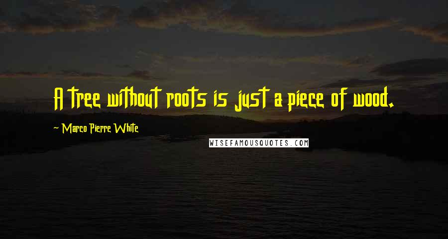 Marco Pierre White quotes: A tree without roots is just a piece of wood.