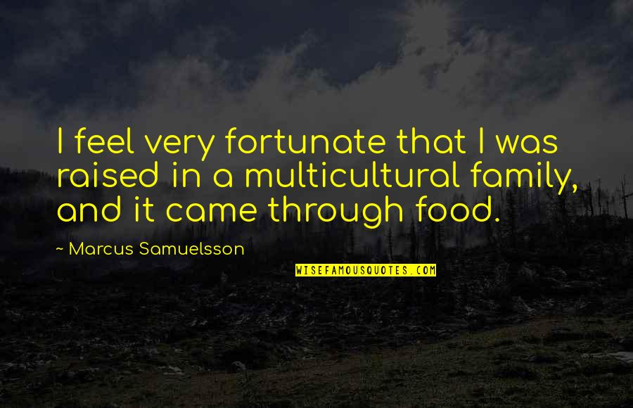 Marcus Samuelsson Quotes By Marcus Samuelsson: I feel very fortunate that I was raised