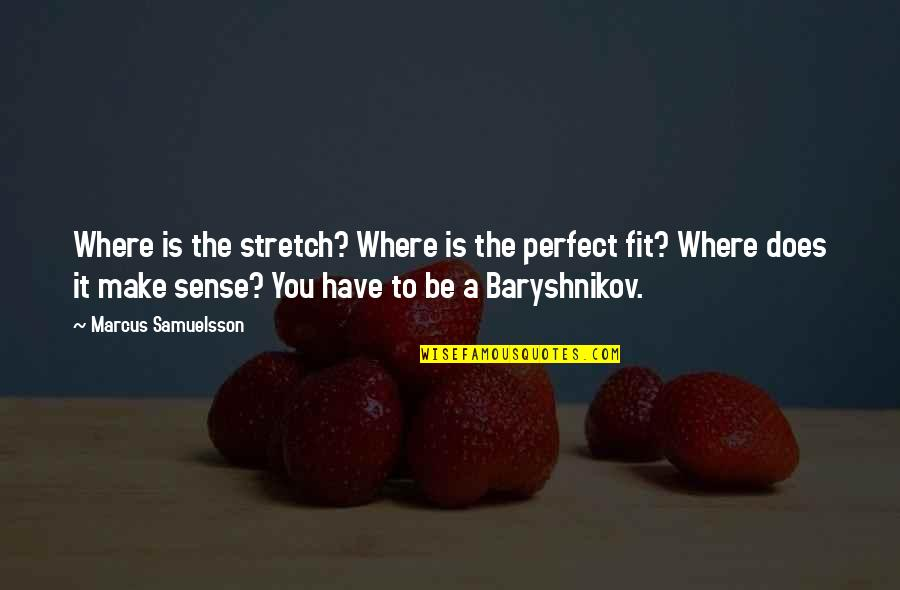 Marcus Samuelsson Quotes By Marcus Samuelsson: Where is the stretch? Where is the perfect