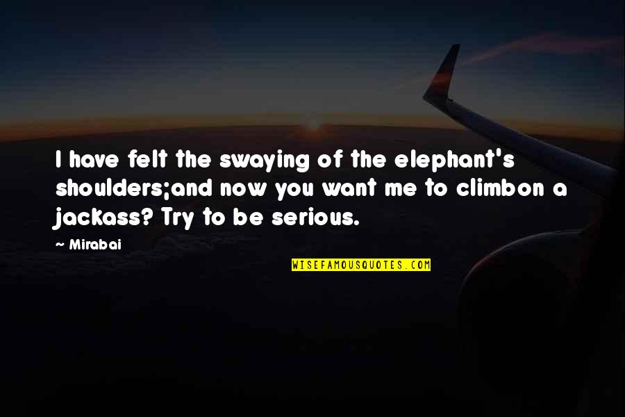 Margin Of Error Quotes By Mirabai: I have felt the swaying of the elephant's