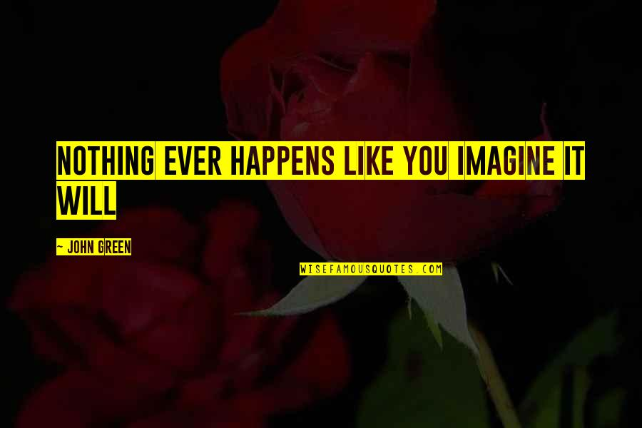 Margo Roth Spiegelman Quotes By John Green: Nothing ever happens like you imagine it will