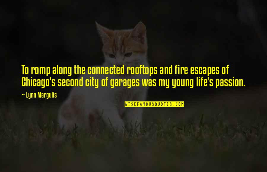 Margulis Quotes By Lynn Margulis: To romp along the connected rooftops and fire