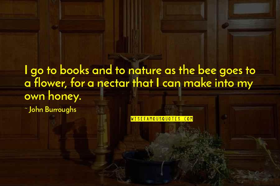 Maria Auditore Quotes By John Burroughs: I go to books and to nature as