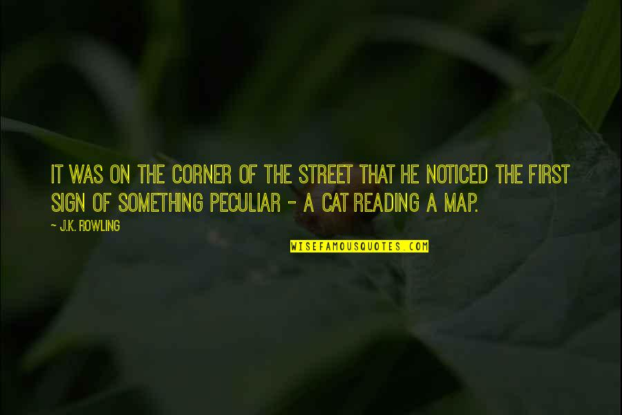 Marielle Quotes By J.K. Rowling: It was on the corner of the street