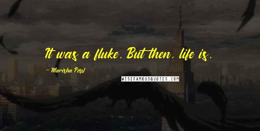 Marisha Pessl quotes: It was a fluke. But then, life is.