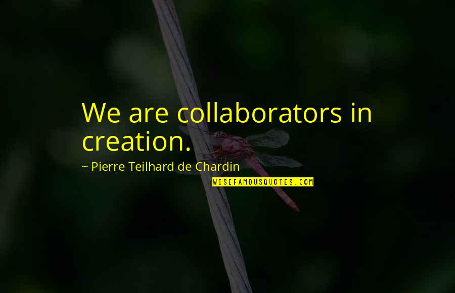 Marjorie Dawes Meera Quotes By Pierre Teilhard De Chardin: We are collaborators in creation.