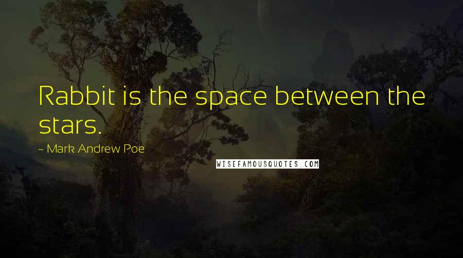 Mark Andrew Poe quotes: Rabbit is the space between the stars.