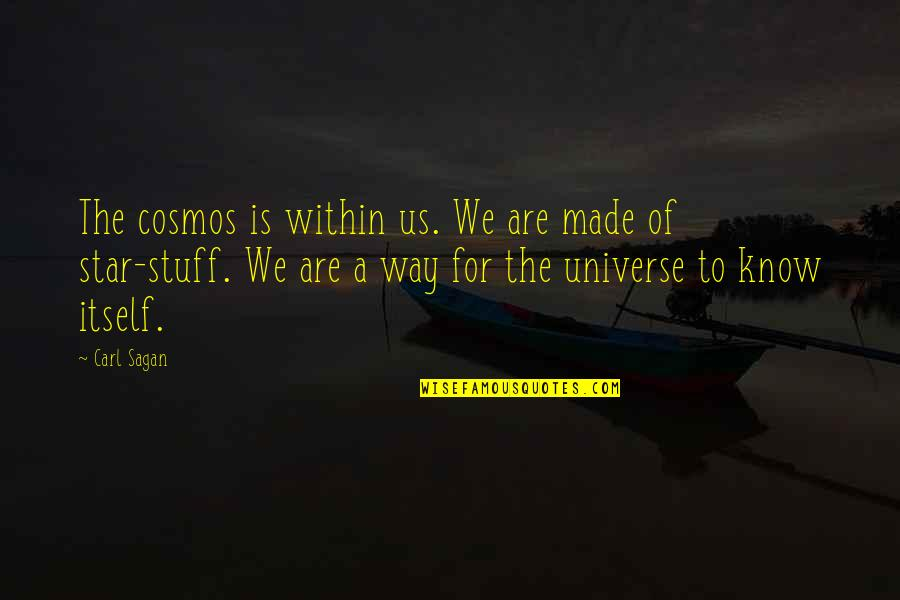Mark Brunell Quotes By Carl Sagan: The cosmos is within us. We are made