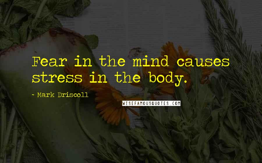 Mark Driscoll quotes: Fear in the mind causes stress in the body.