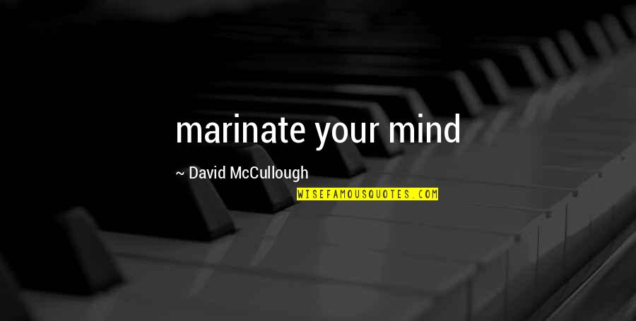 Mark Mazzoleni Quotes By David McCullough: marinate your mind