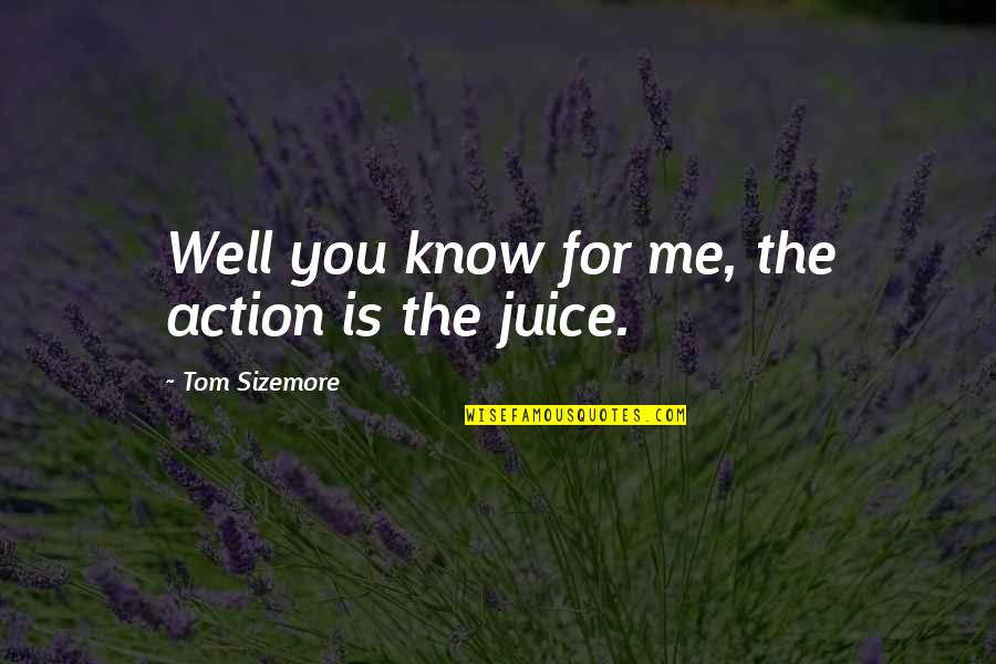 Mark Rothko Quotes By Tom Sizemore: Well you know for me, the action is