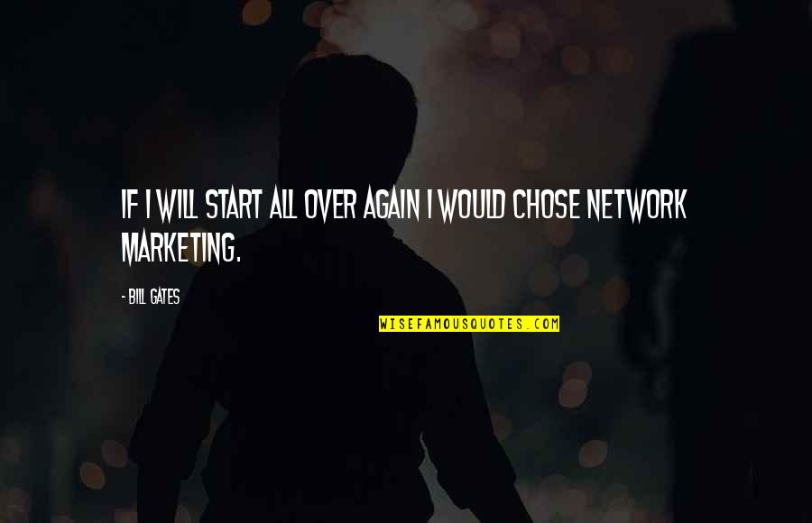 Marketing Success Quotes By Bill Gates: If i will start all over again I