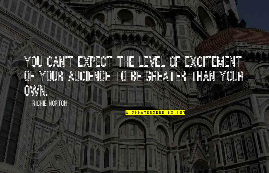 Marketing Success Quotes By Richie Norton: You can't expect the level of excitement of