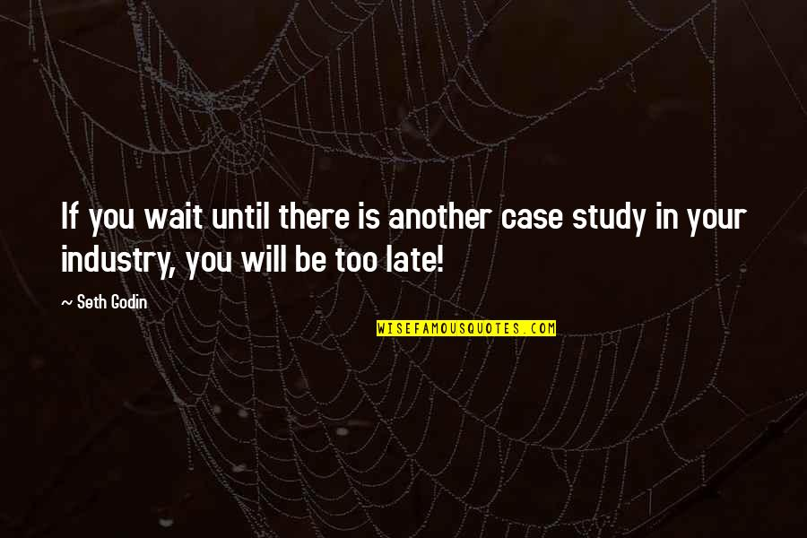 Marketing Success Quotes By Seth Godin: If you wait until there is another case