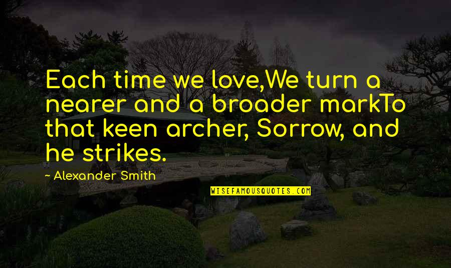 Markto Quotes By Alexander Smith: Each time we love,We turn a nearer and