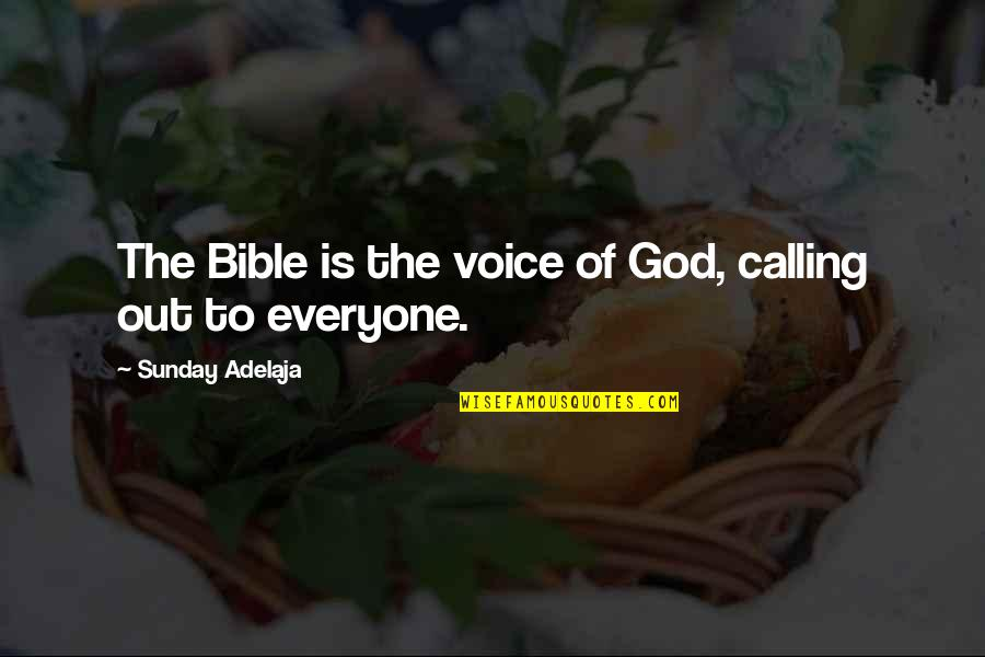 Marriage Rough Patch Quotes By Sunday Adelaja: The Bible is the voice of God, calling