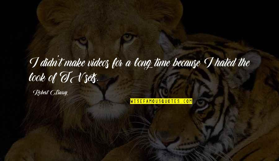 Marriage Trouble Inspirational Quotes By Robert Barry: I didn't make videos for a long time