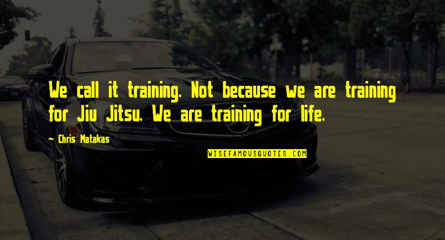 Martial Arts And Life Quotes By Chris Matakas: We call it training. Not because we are