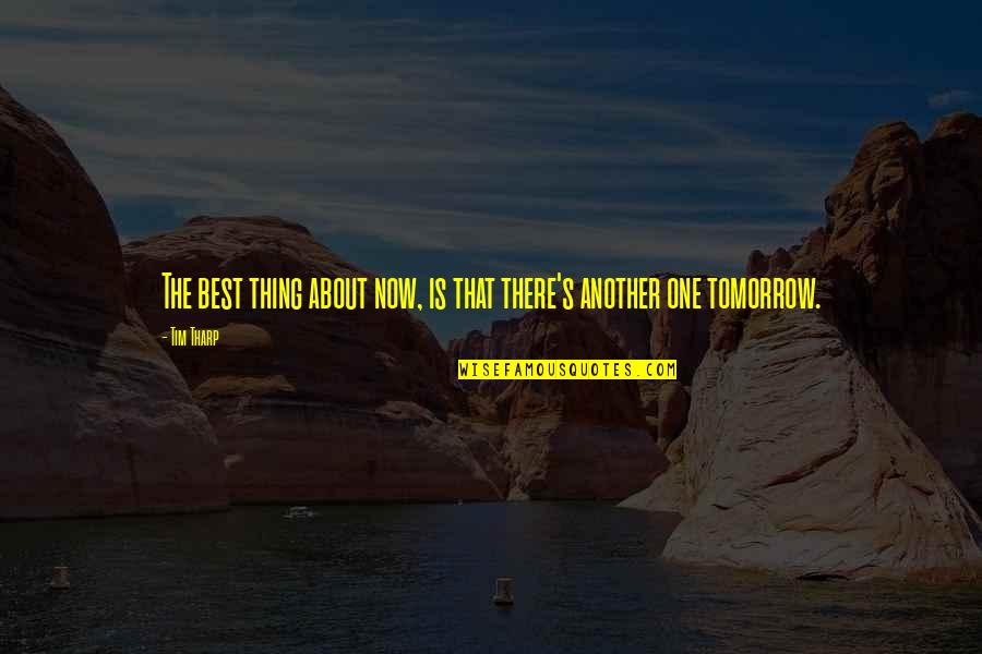 Martial Arts And Life Quotes By Tim Tharp: The best thing about now, is that there's